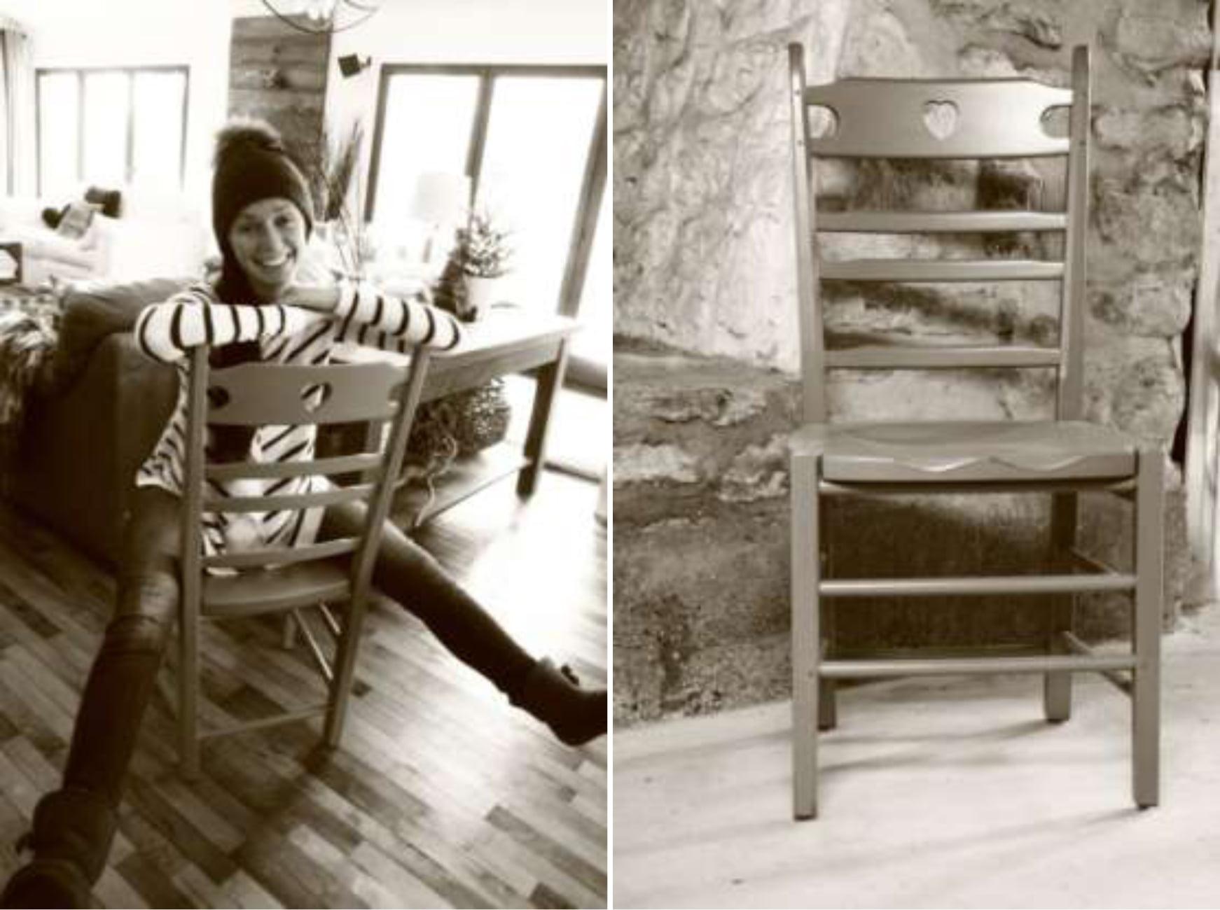 chaise de cuisine en rable la caroline meubles hochelaga. Black Bedroom Furniture Sets. Home Design Ideas