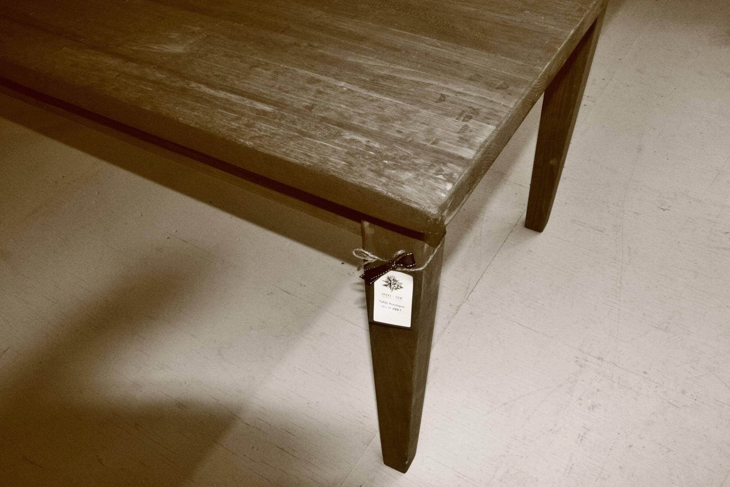 Table la rustique 3 meubles sur mesure meubles hochelaga for Meuble hochelaga montreal
